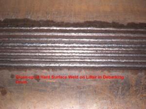 Debarking Drum Lifter Hard Surface Weld