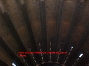 Hard Surface Weld On Debarking Drum Lifters